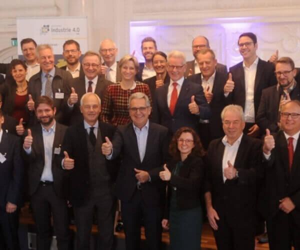 Teilnehmer Jubiläumsfeier zu 5 Jahren Allianz 4.0 Baden-Württemberg