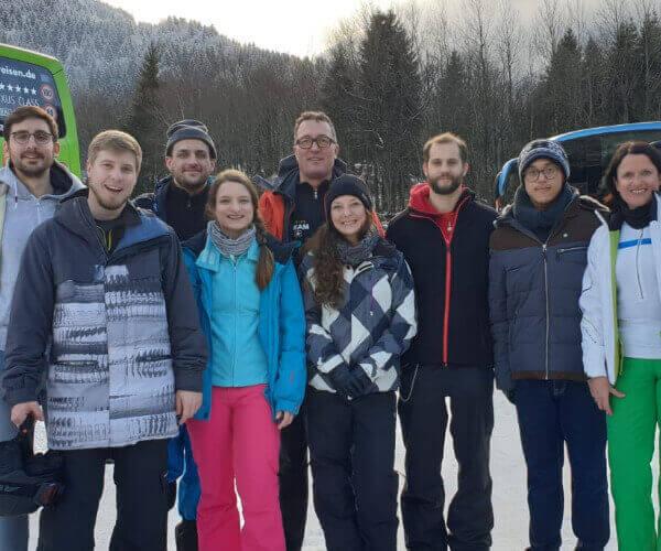 iTE Kollegen bei der Skiausfahrt 2020
