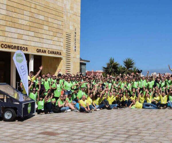 Gruppenbild der Teilnehmer des Smart Green Island Makeathons 2020 auf Gran Canaria